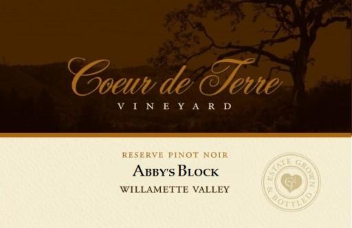 2013 Abby's Block Reserve Pinot Noir