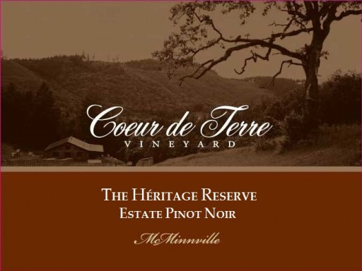 2012 Heritage Reserve Estate Pinot Noir