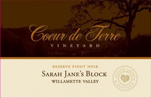 2014 Sarah Jane's Block Reserve Pinot Noir