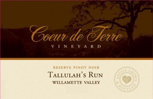 2014 Tallulah's Run Reserve Pinot Noir